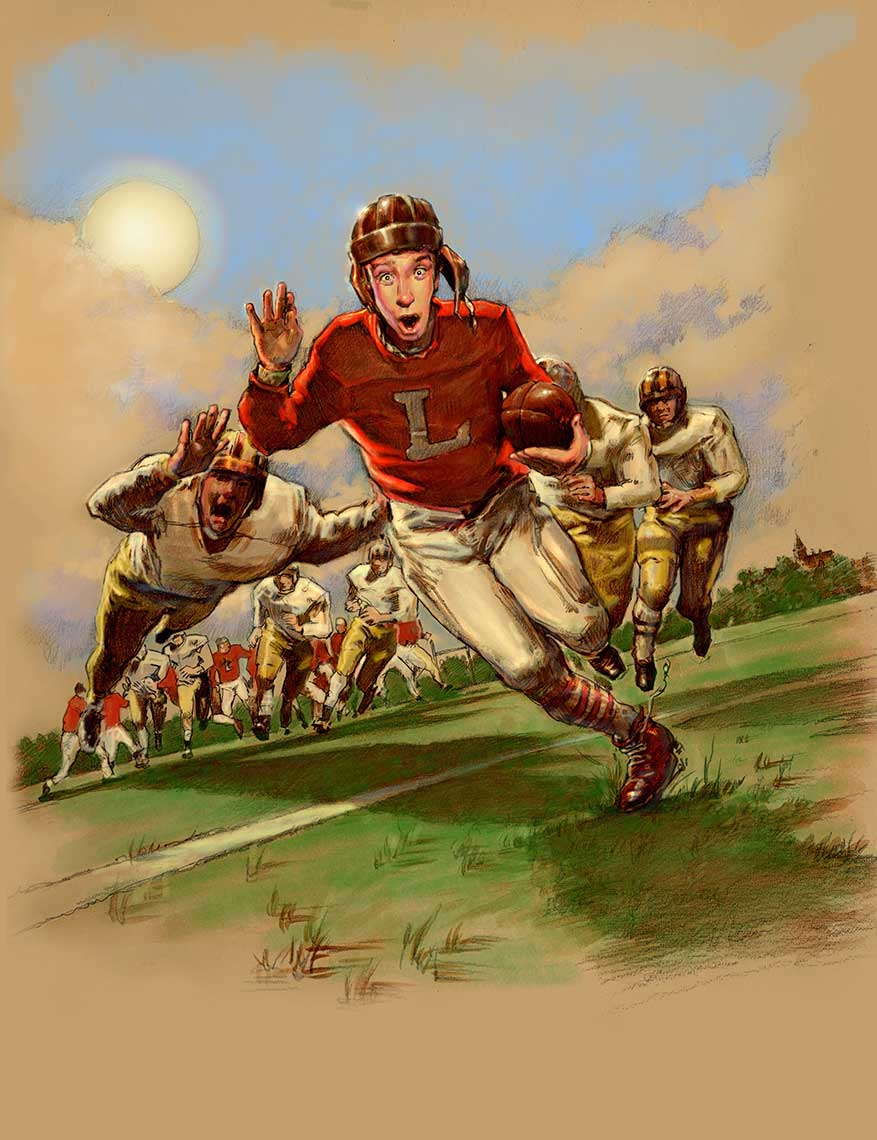 1930s-football-kit-running-with-leather-helmet-