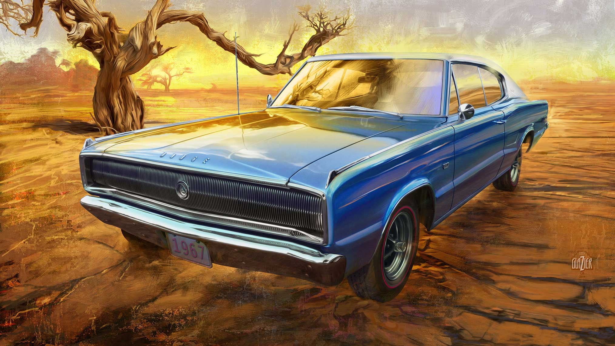 1967 MInt Dodge Charger Abandoned Near A Tree