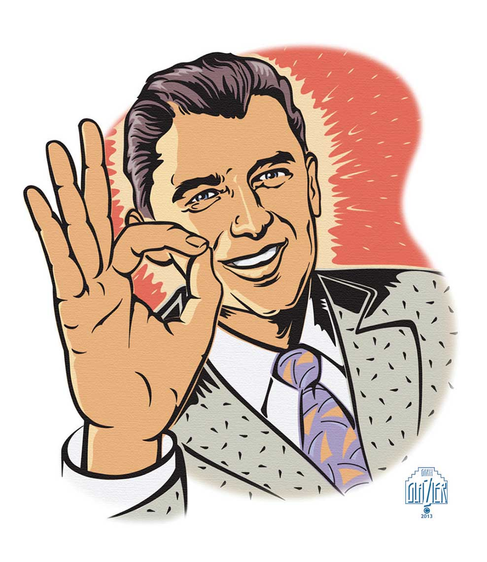 50s Vintage_Announcer-giving OK sign