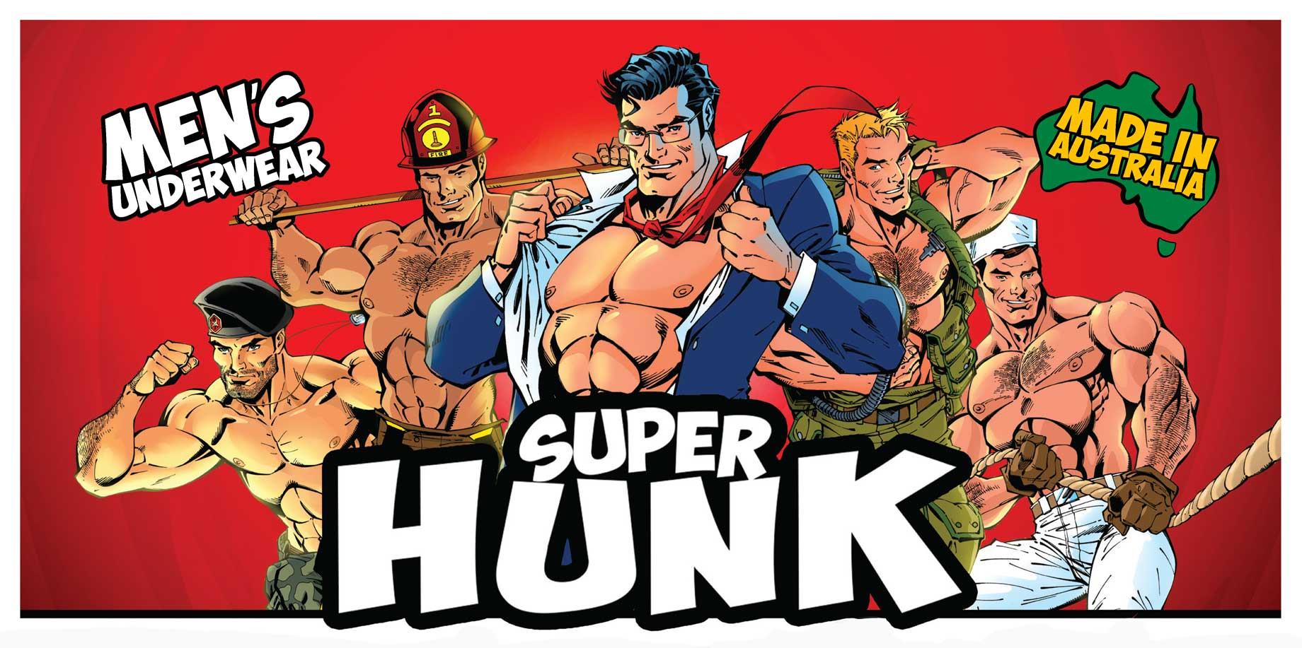 Aussiebum-Comic-book-Superhunk-banner-artwork