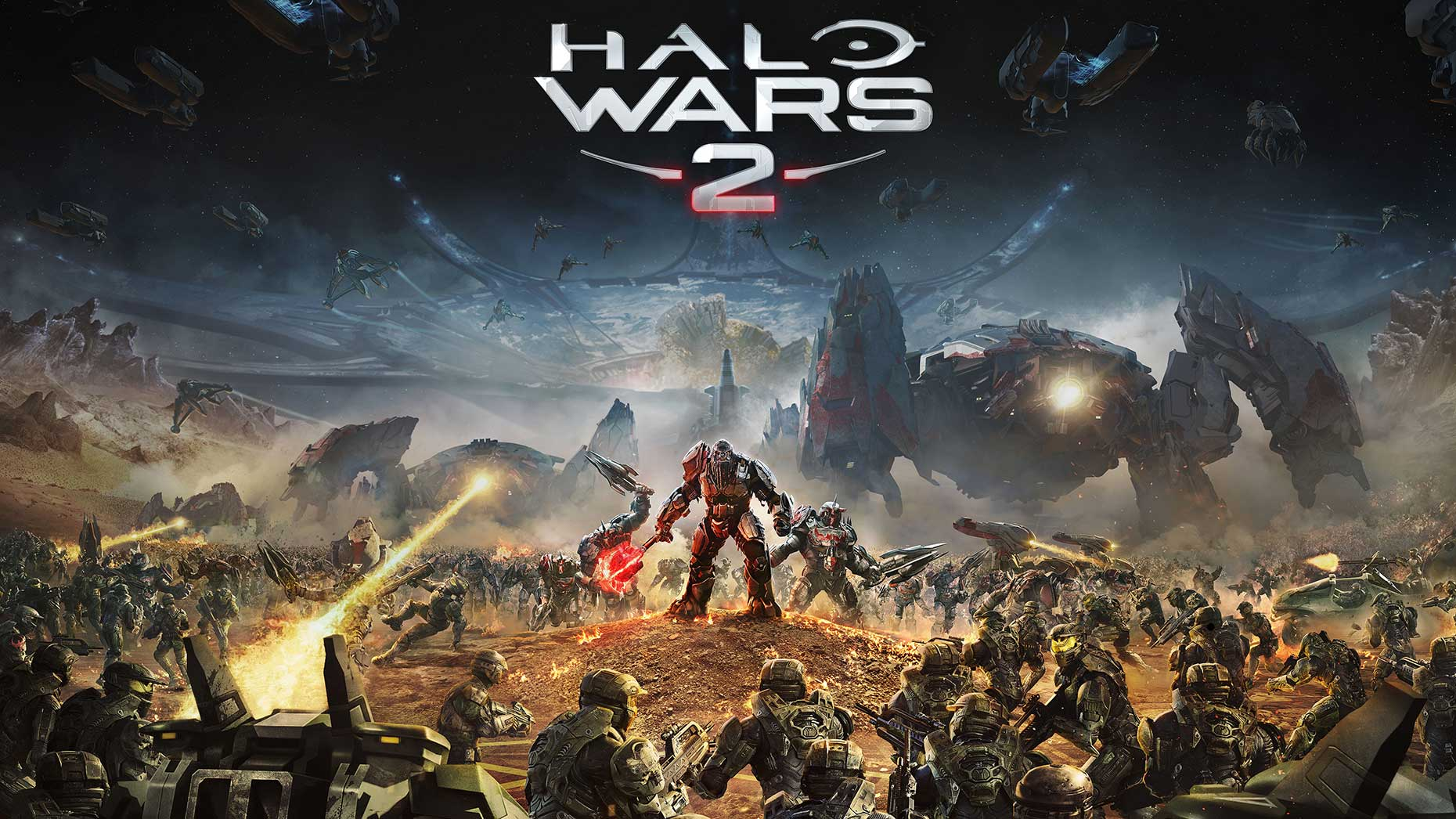 Battlescene war scene for key art of Halo Wars 2