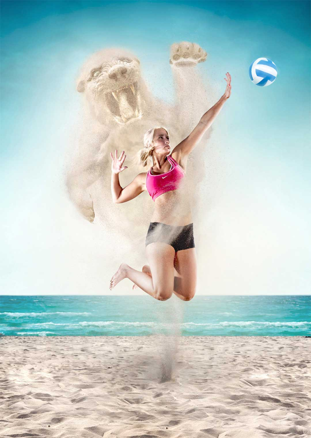 CGI-Beach-volleyball-woman-spiking