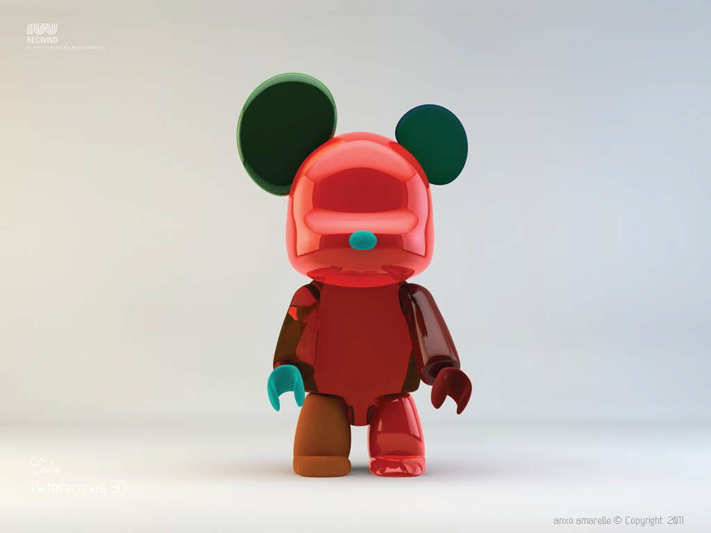 CGI-Characters_Metallic Mickey Mouse Red-Anxo Amarelle