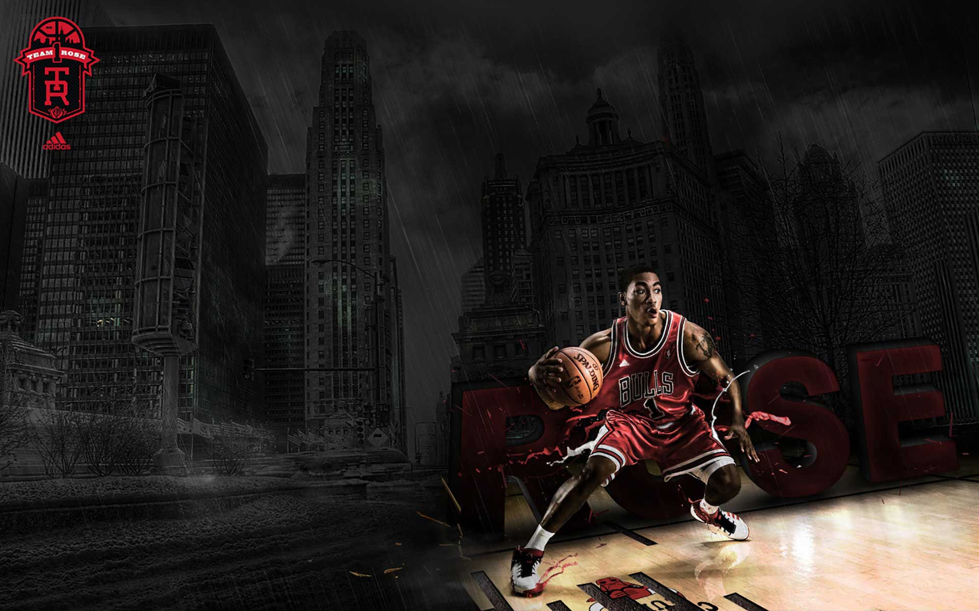CGI-derrick-rose-dribbles-city-background--photography-Eastern Affair