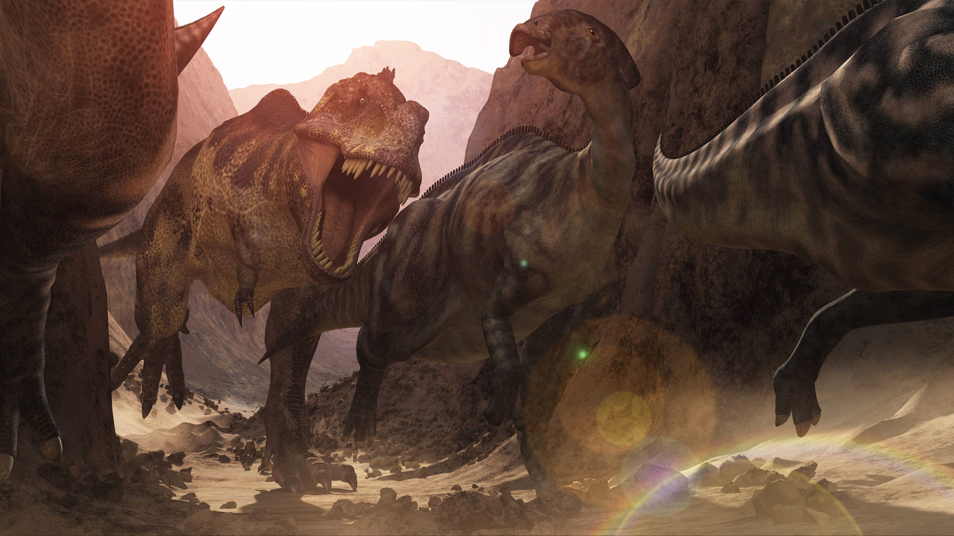 CGI-illustration-Canyon-Attack-dinosaur