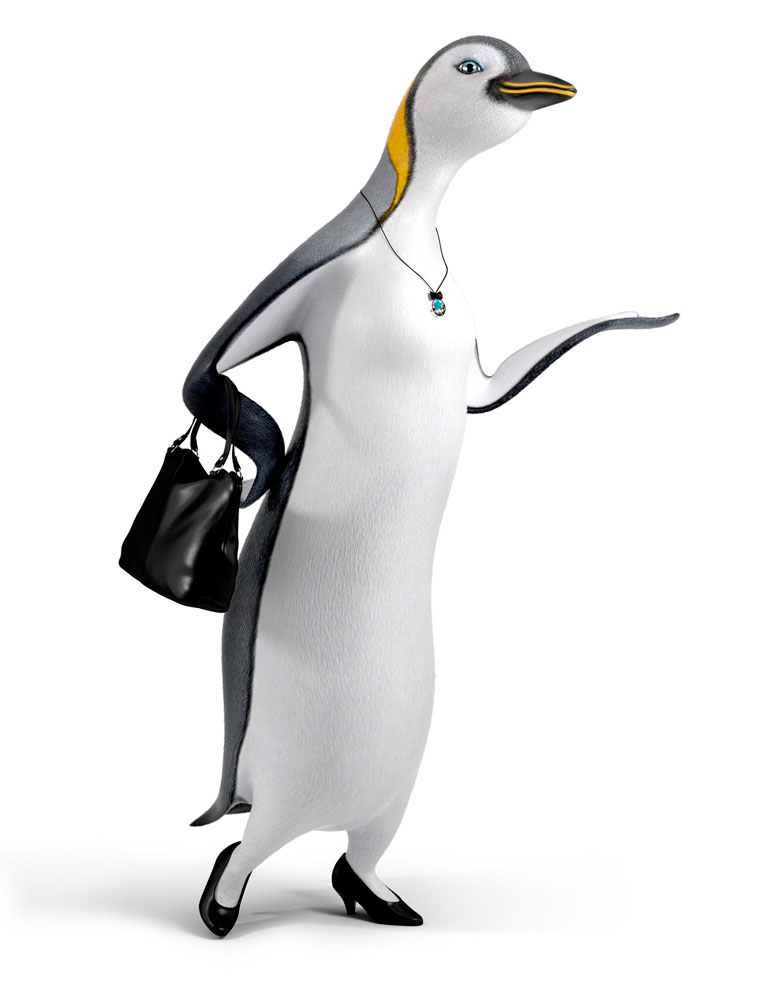 CGI-illustration-Characters_Fancy penguin
