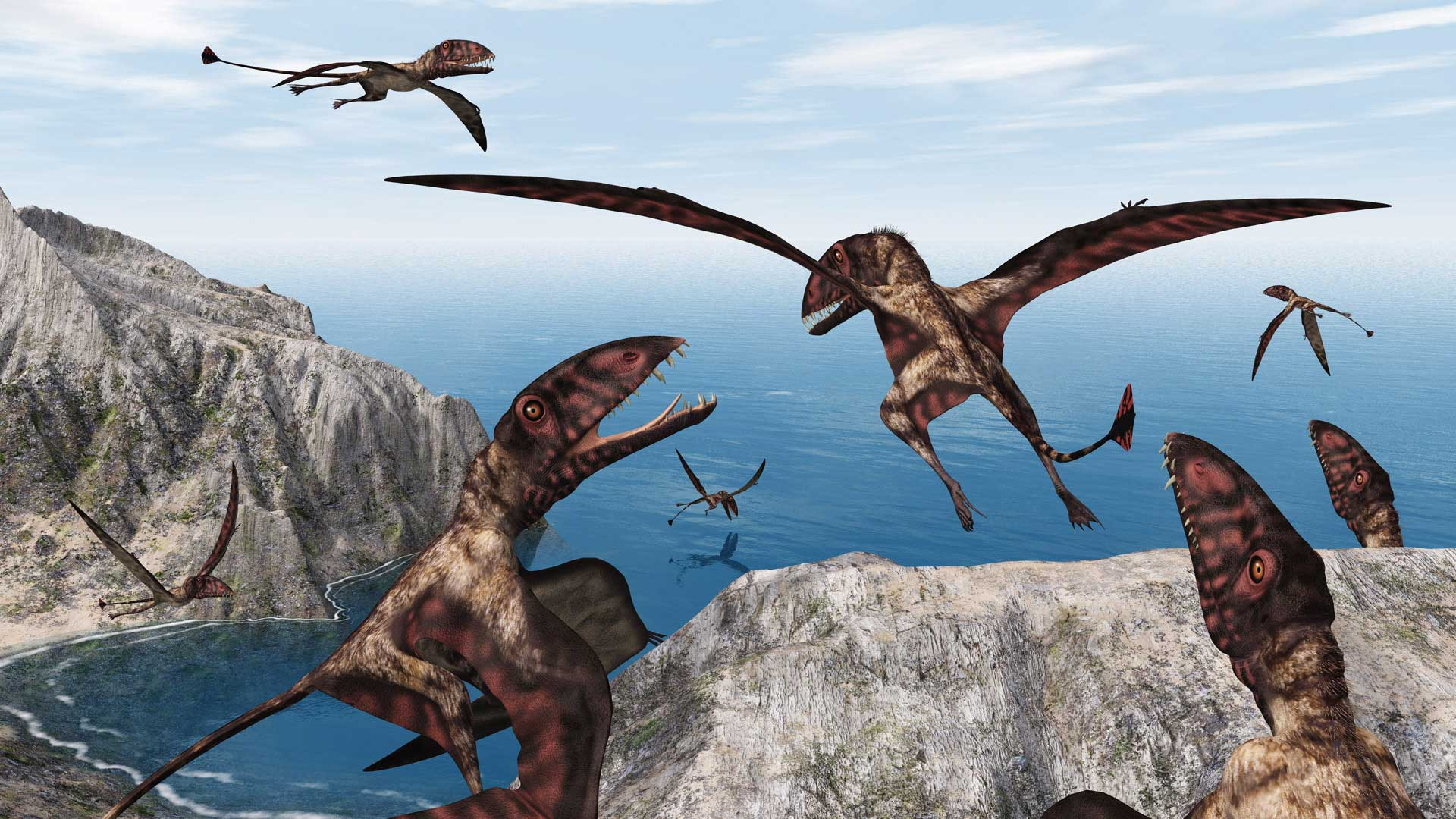 CGI-illustration-Dimorphodon-Flying-dinosaur