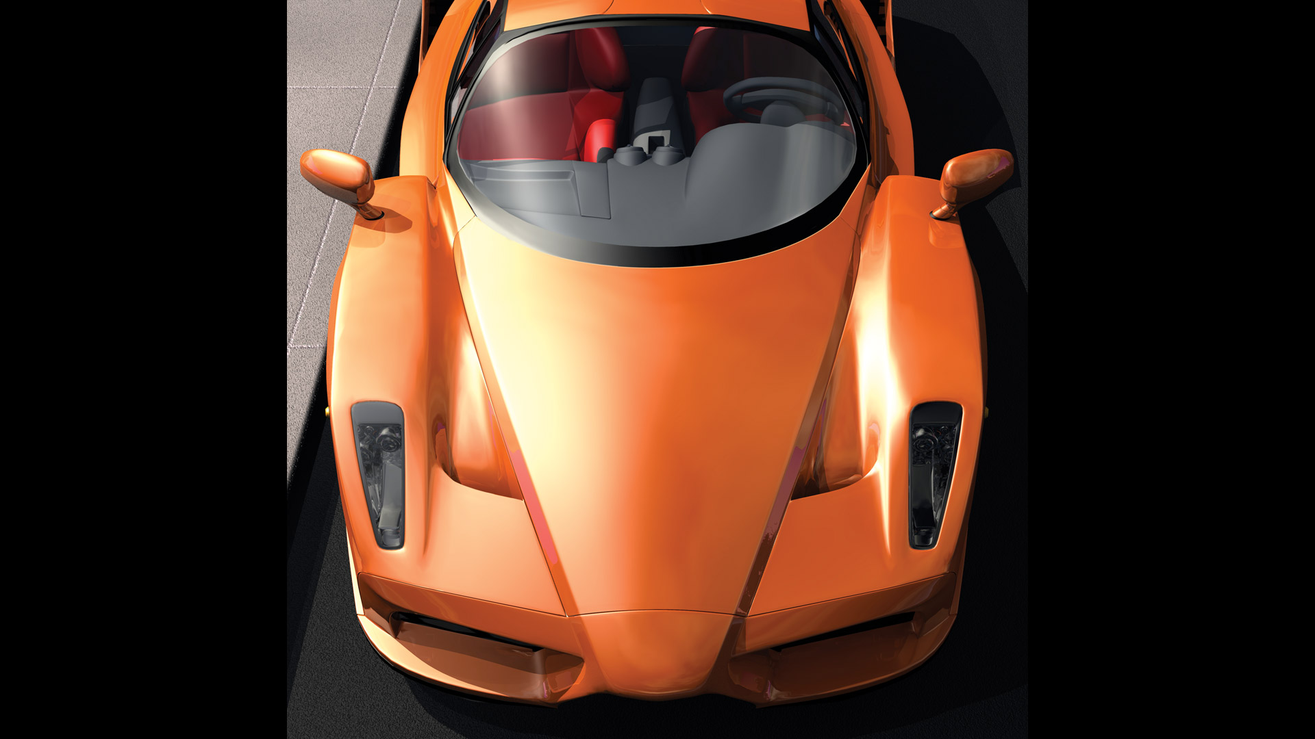 CGI-illustration-Ferrari-Down-View-BC-orange-outdoors