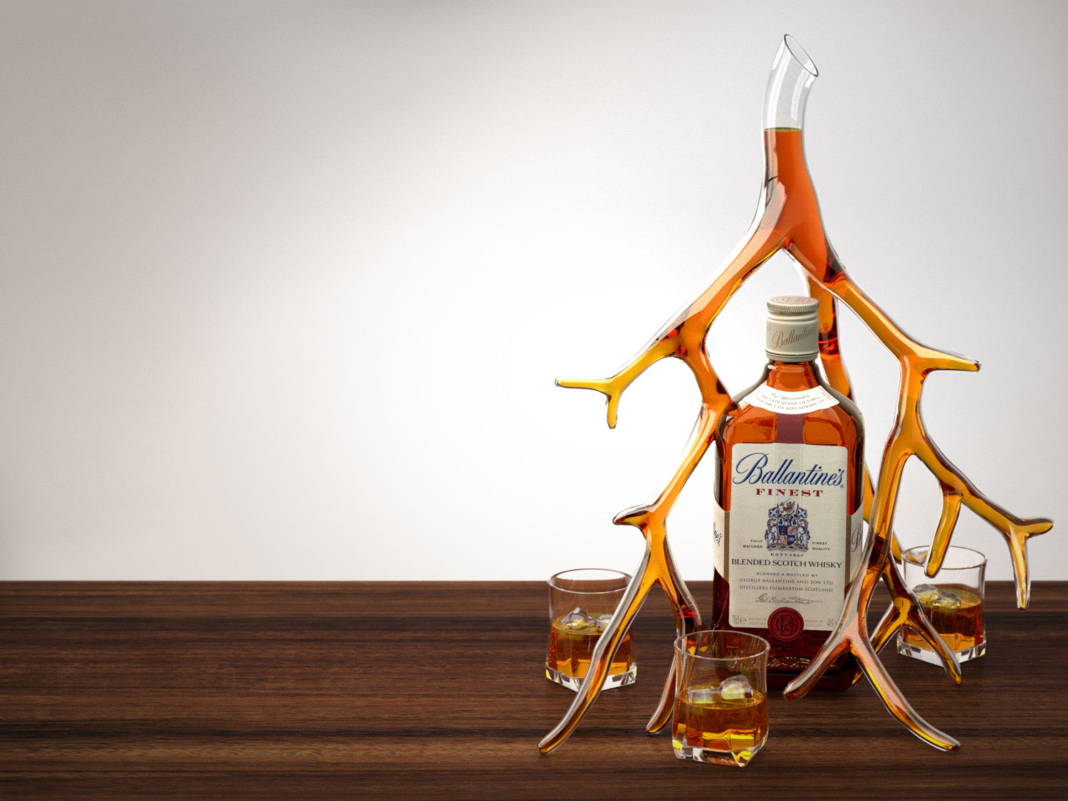 CGI-illustration-Graphics and Logos_Ballantines tree