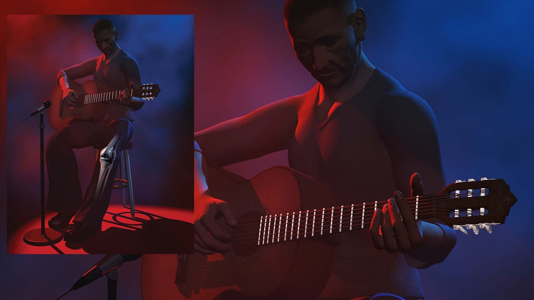 CGI-illustration-Guitar Player
