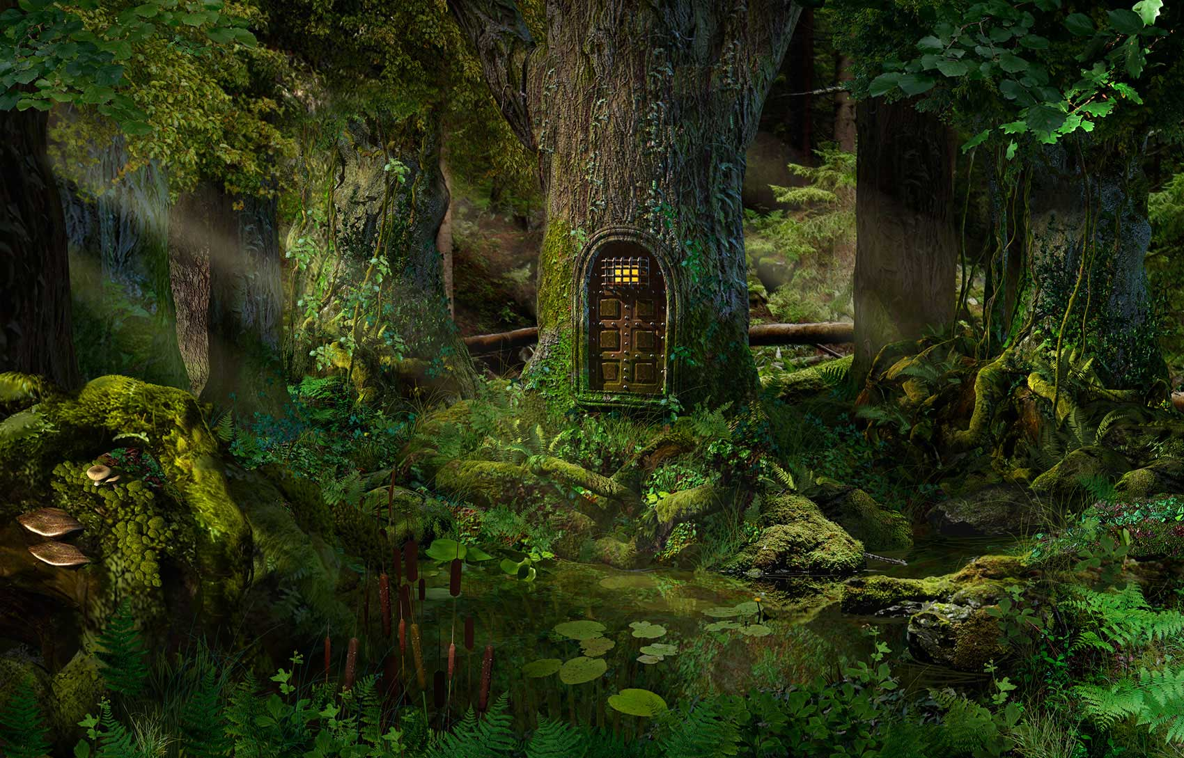 CGI-illustration-Still-Life_Door-in-a-tree