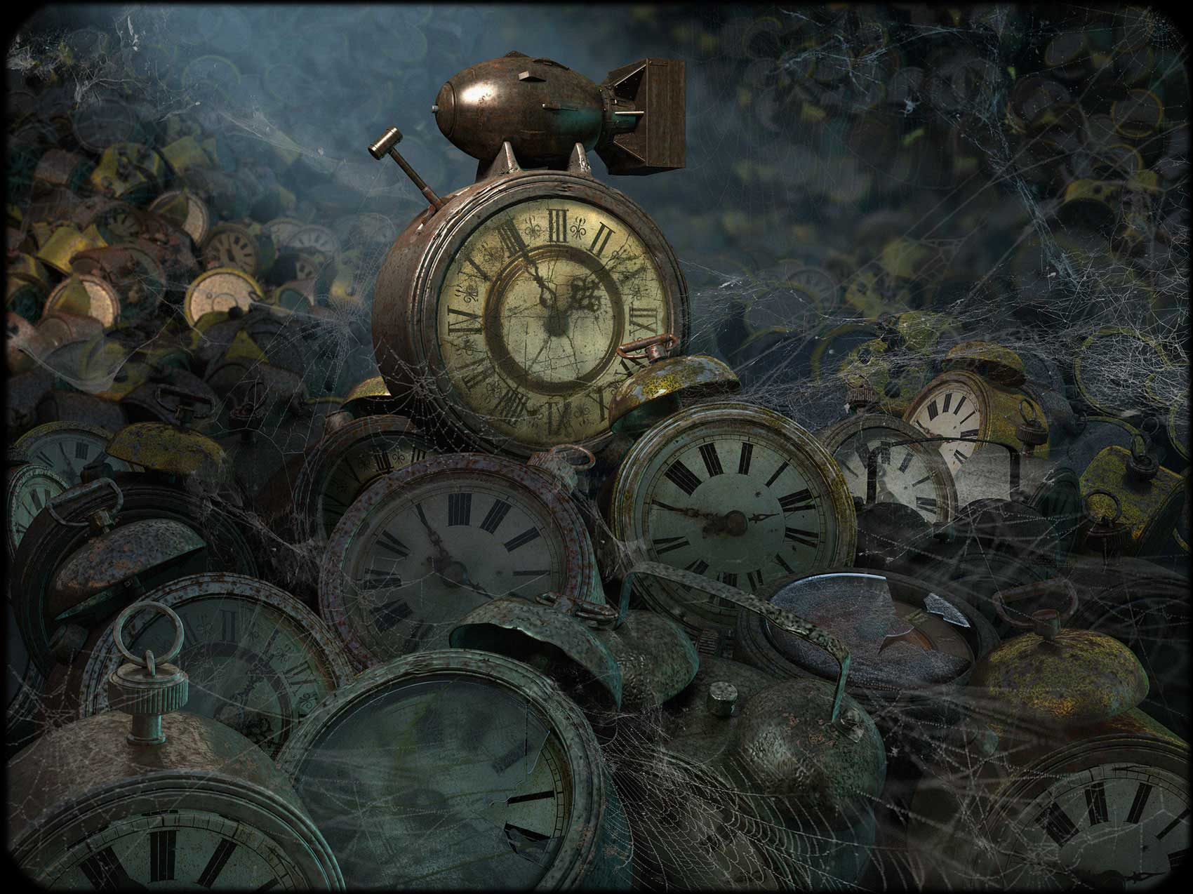 CGI-illustration-Still-Life_Old-Clocks