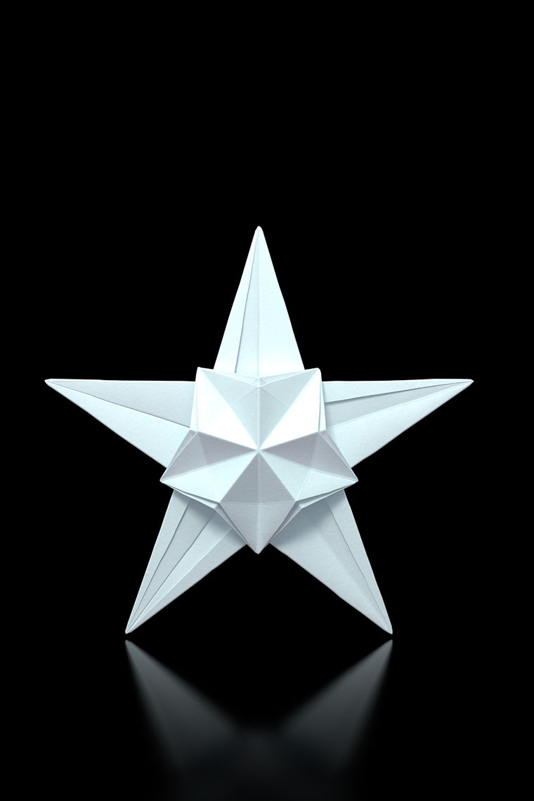 CGI-illustration-Still Life_Origami star