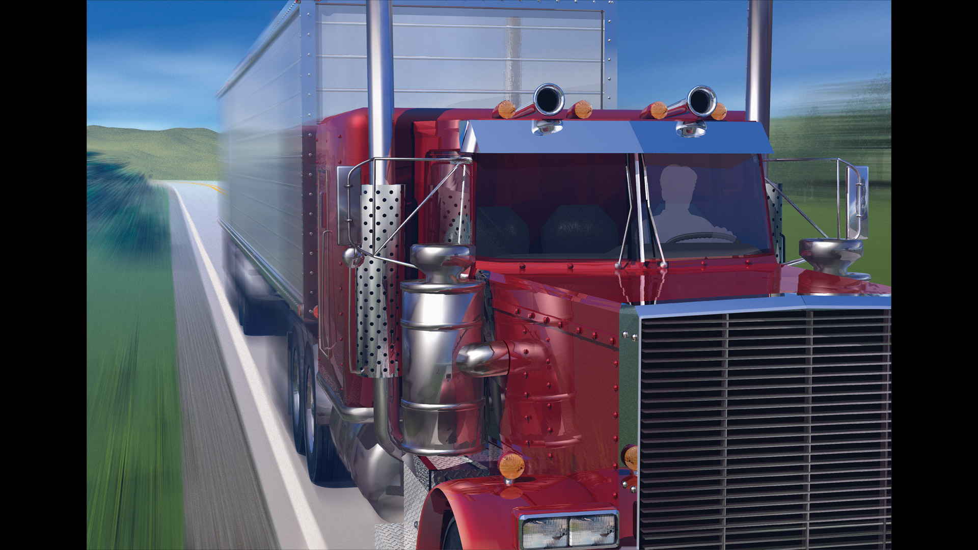 CGI-illustration-Truck-Driver-Red-outdoors