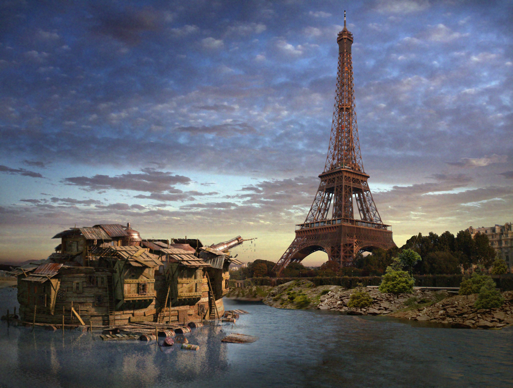 CGI-photography-matte-Architecture_Eiffel tower