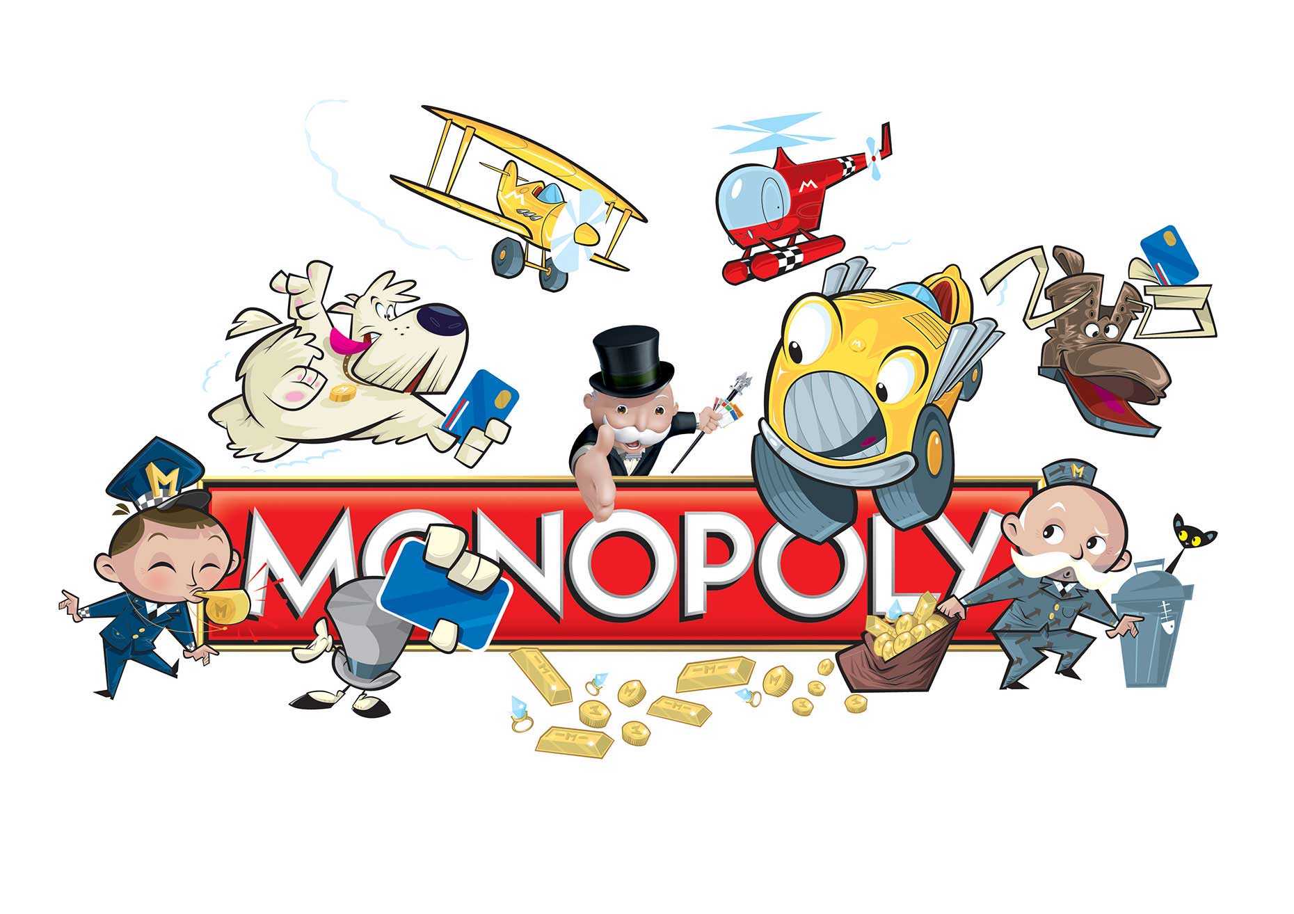 Character-Design-People-and-Cartoon-Monopoly-Characters1