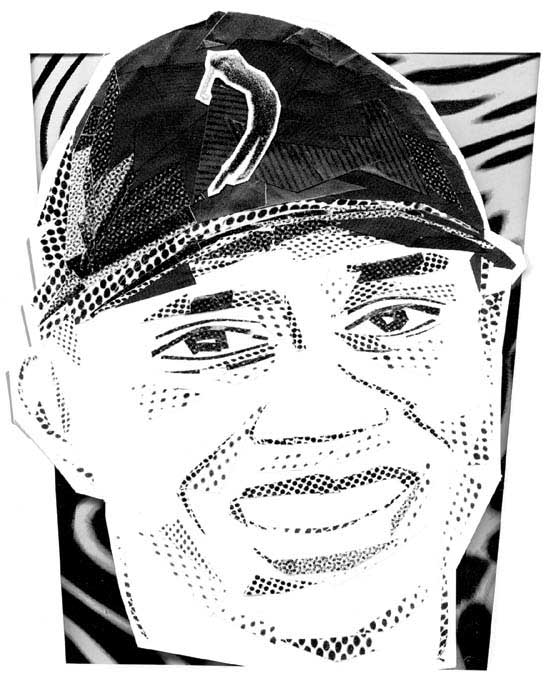 Daniel-Morgenstern-Cut_paper-portraits_Tiger-Woods