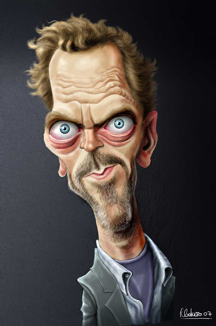 Doctor-House-Hugh-Laurie-caricature