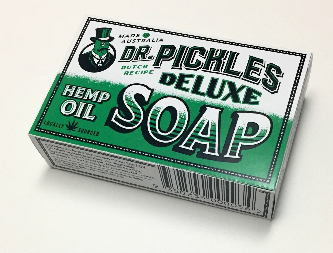 Dr Pickles Deluxe Soap Box Packaging Logo