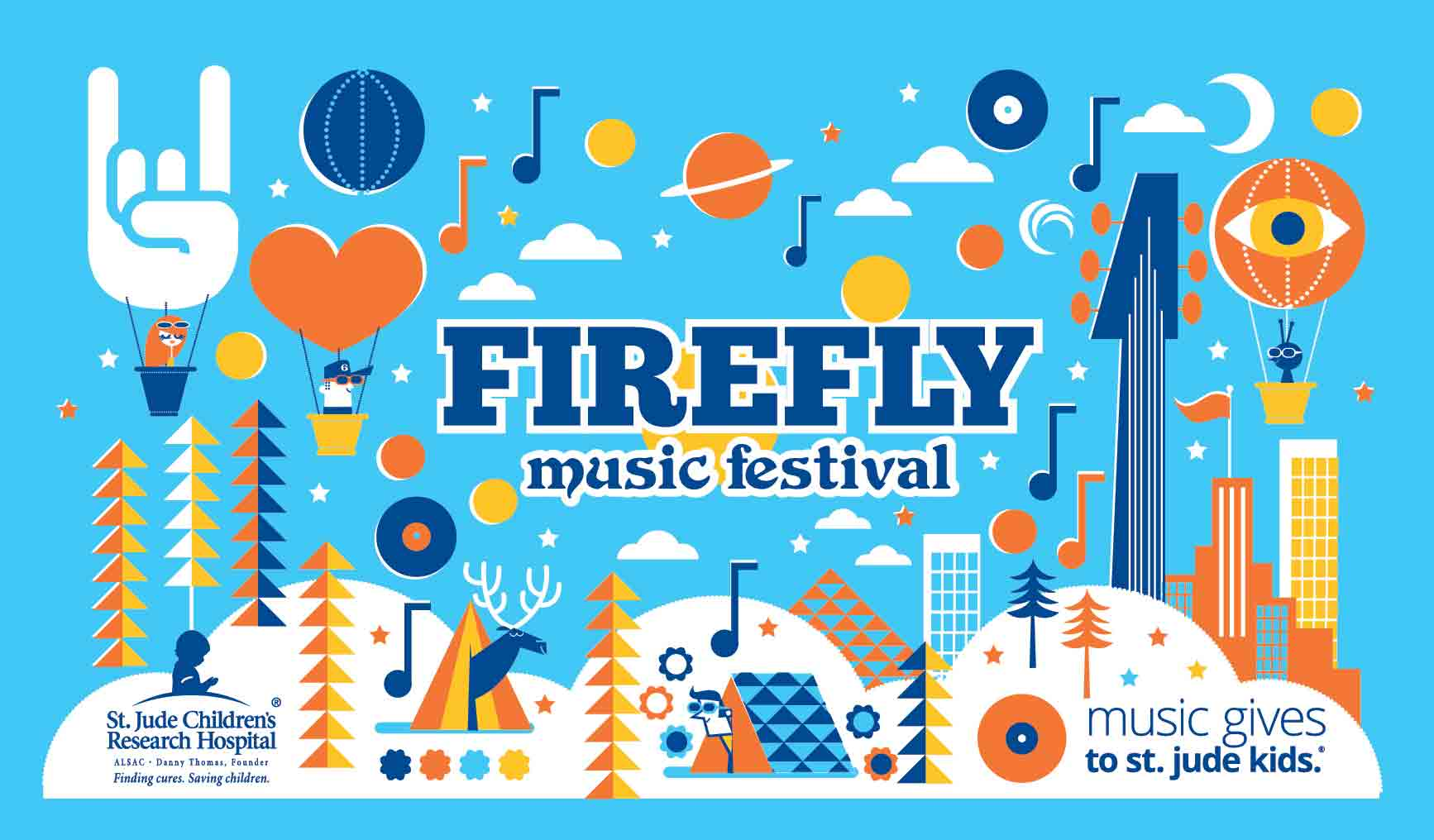 Firefly Festival artwork 2017 for Camelback festival water bottle