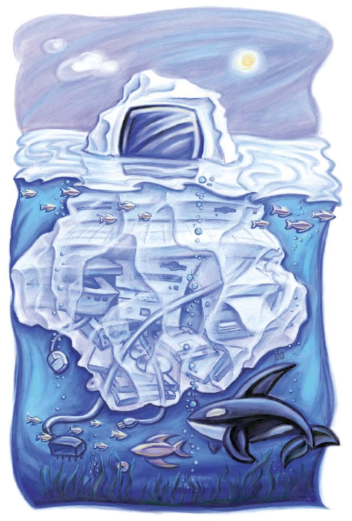 Giovannina Colalillo_Animals_Orca Whale and Iceberg