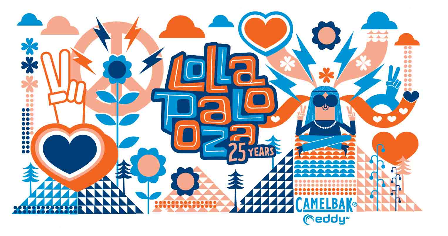 Graphic Love-Lollapalooza-Camelbak Bottle Design