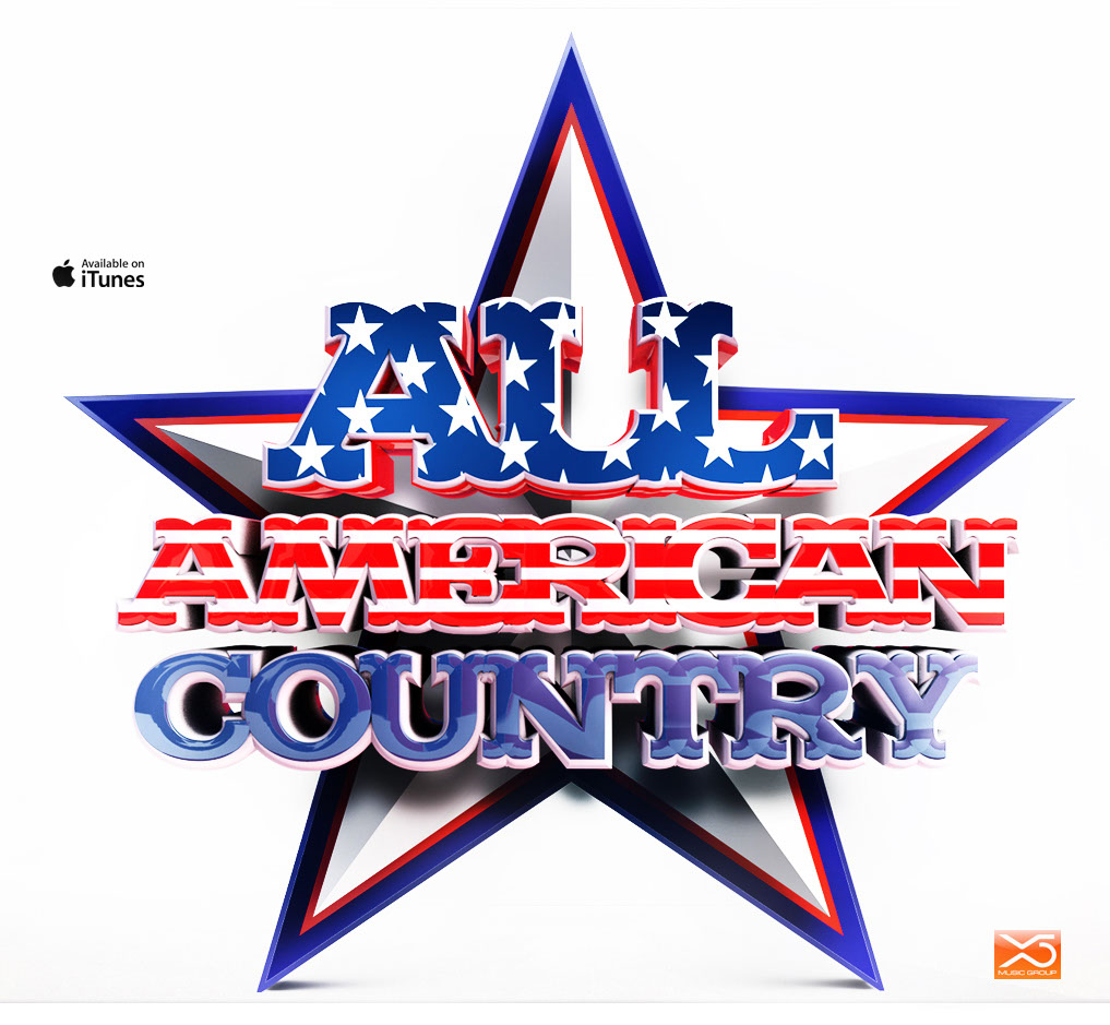 Graphics-logos-lettering-All american country-Anxo Amarelle