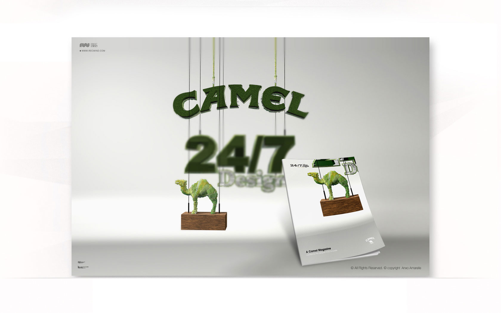 Graphics-logos-lettering-Camel 247-Anxo Amarelle