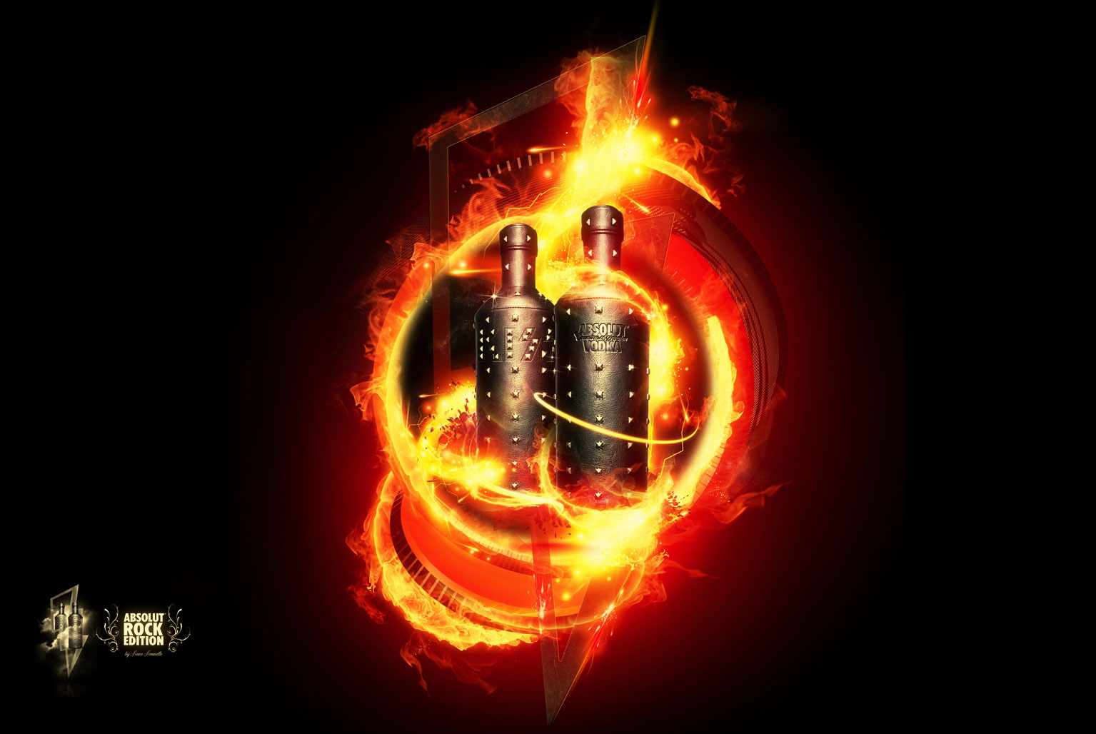 Graphics-logos-lettering-Flaming absolut-Anxo Amarelle