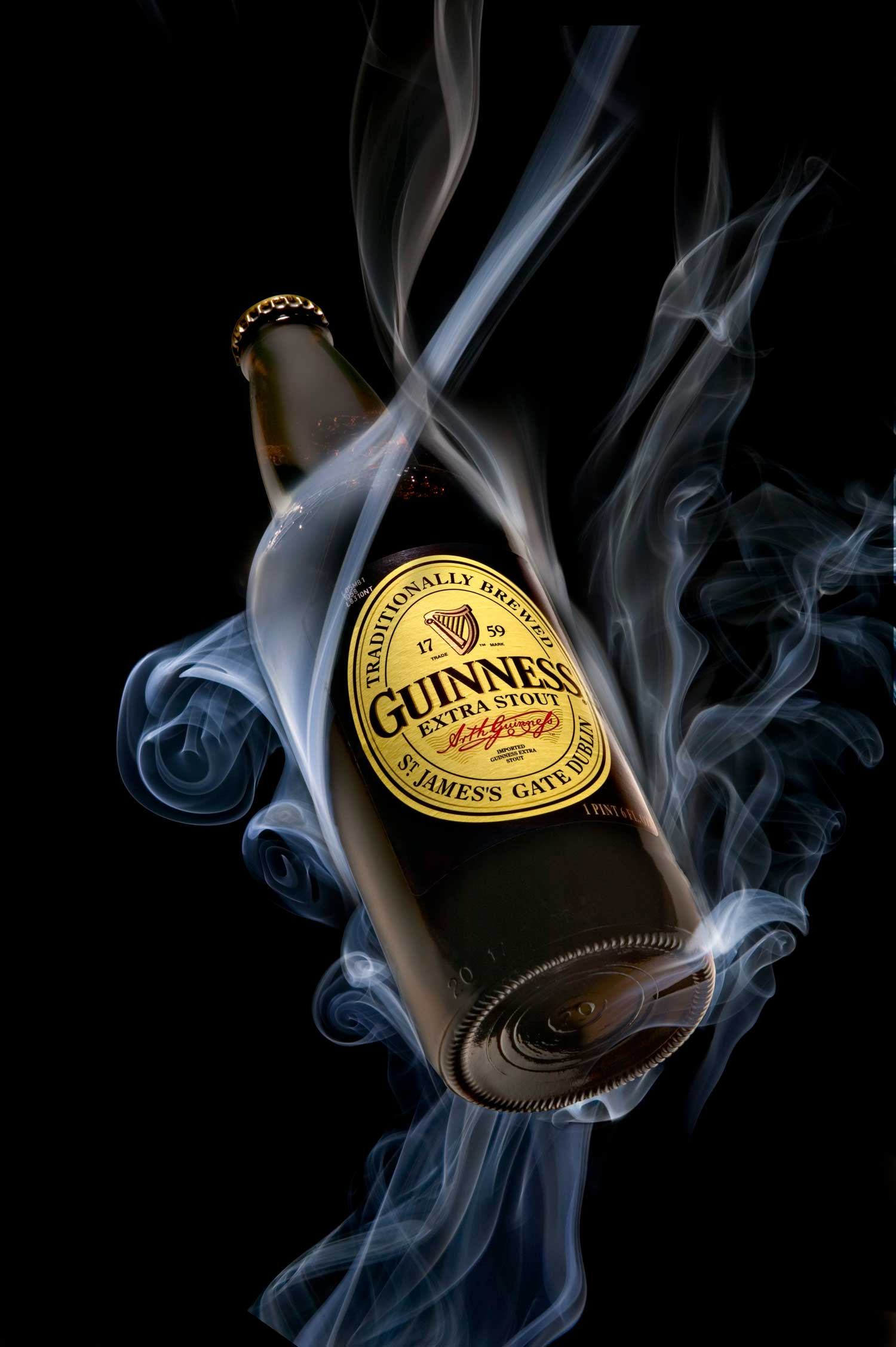 Guinness bottle still life