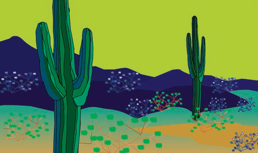 Illustration-Landscapes_Desert-Pamela Hamilton