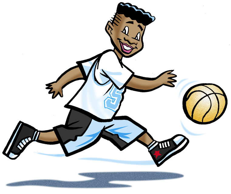 Illustration_People_Boy Playing Basketball-Bot-Roda
