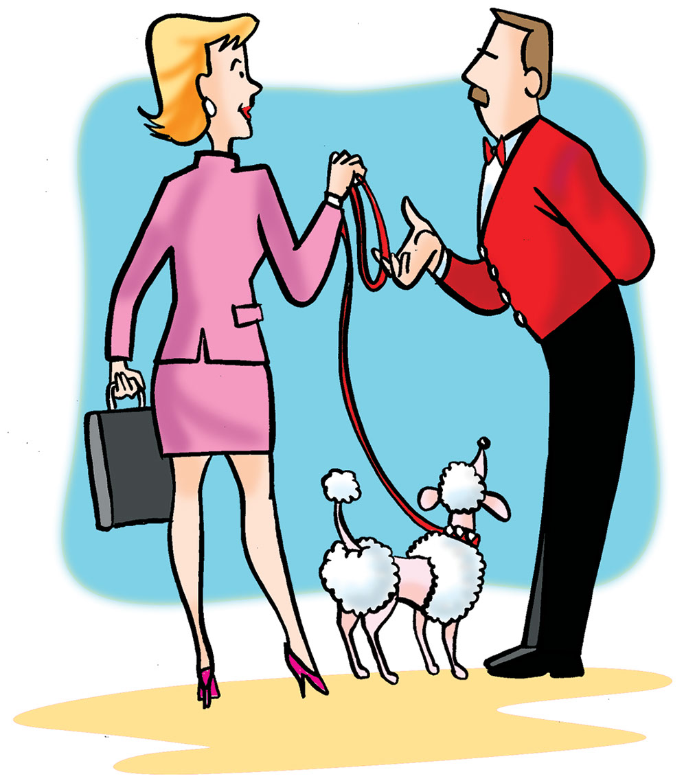 Illustration_People_Businesswoman with Poodle-Bot-Roda