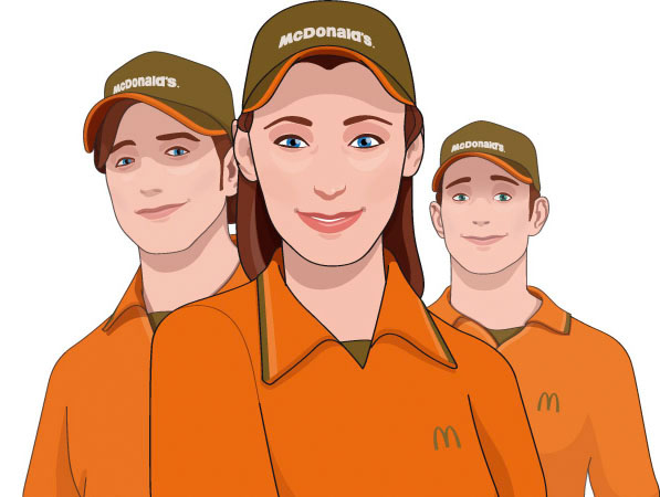 Illustration_People_McDonalds Employees-Francesco Favero