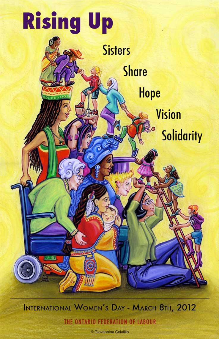International WomenÌs Day Poster for the Ontario Federation of Labour for March 8, 2012