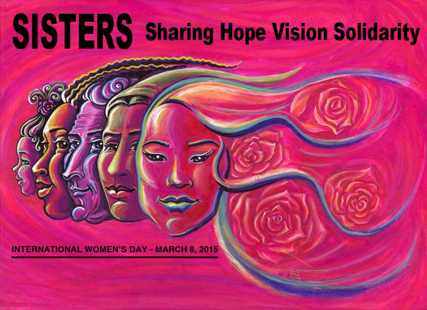 International WomenÌs Day Poster for the Ontario Federation of Labour for March 8, 2015