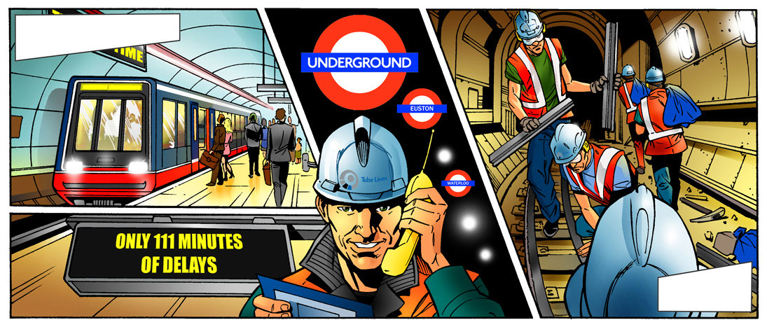 John Royle_Comics_London underground