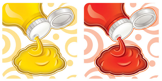 Nathan Green_Illustration_Food_Mustard and Ketchup