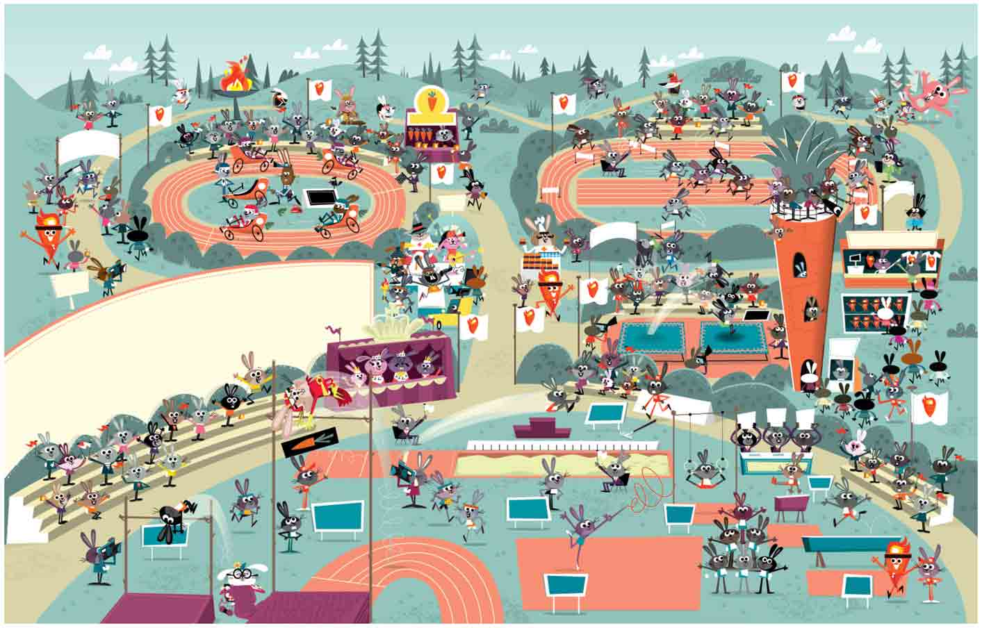 Olympic-Track-and-Field-Scenes-of-animated-Rabbits-inWheres-Waldo-find-it-scene