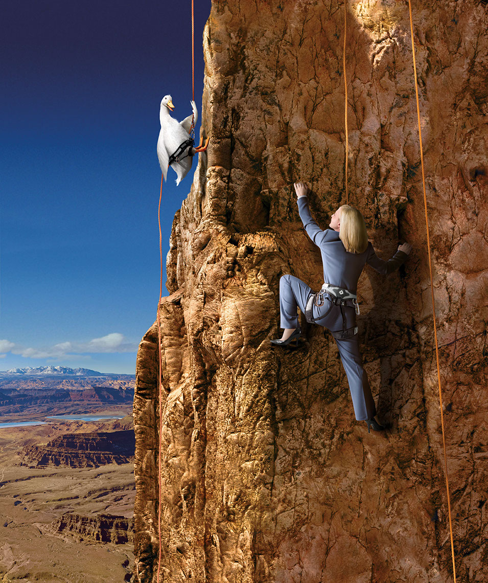 Photo-Imaging-Scenes and Landscapes_Rockclimbing goose-TRG Reality