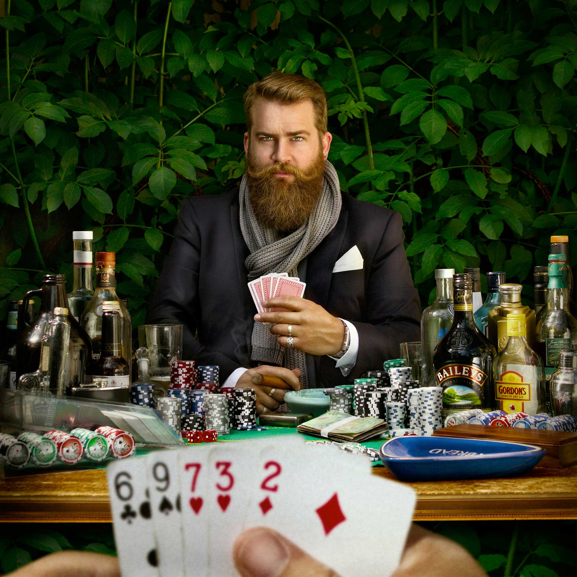 Photo-Imaging-illustration-Poker Face-Mardo El-Noor