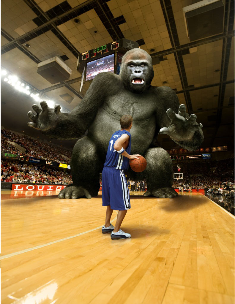 Photo-Imaging_Animals and Nature_Basketball with a gorilla-Stan Watts