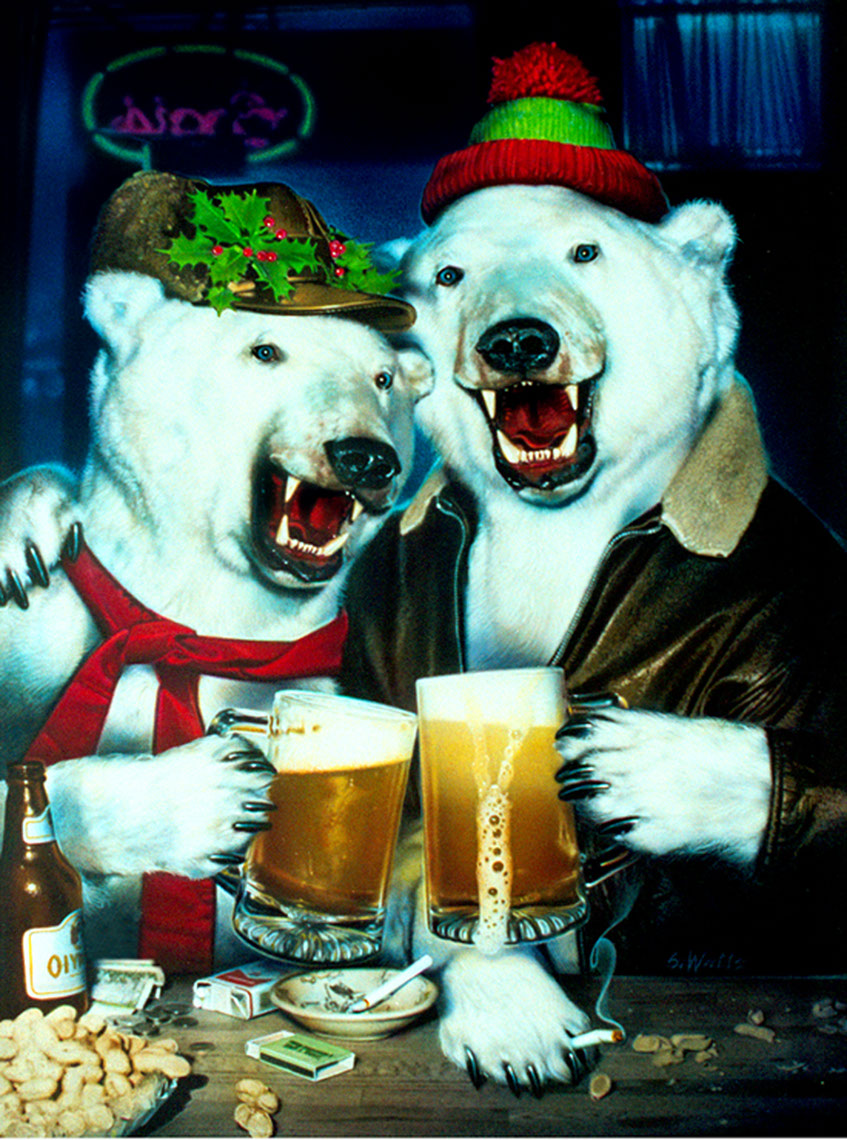 Photo-Imaging_Animals and Nature_Rowdy drinking polar bears-Stan Watts