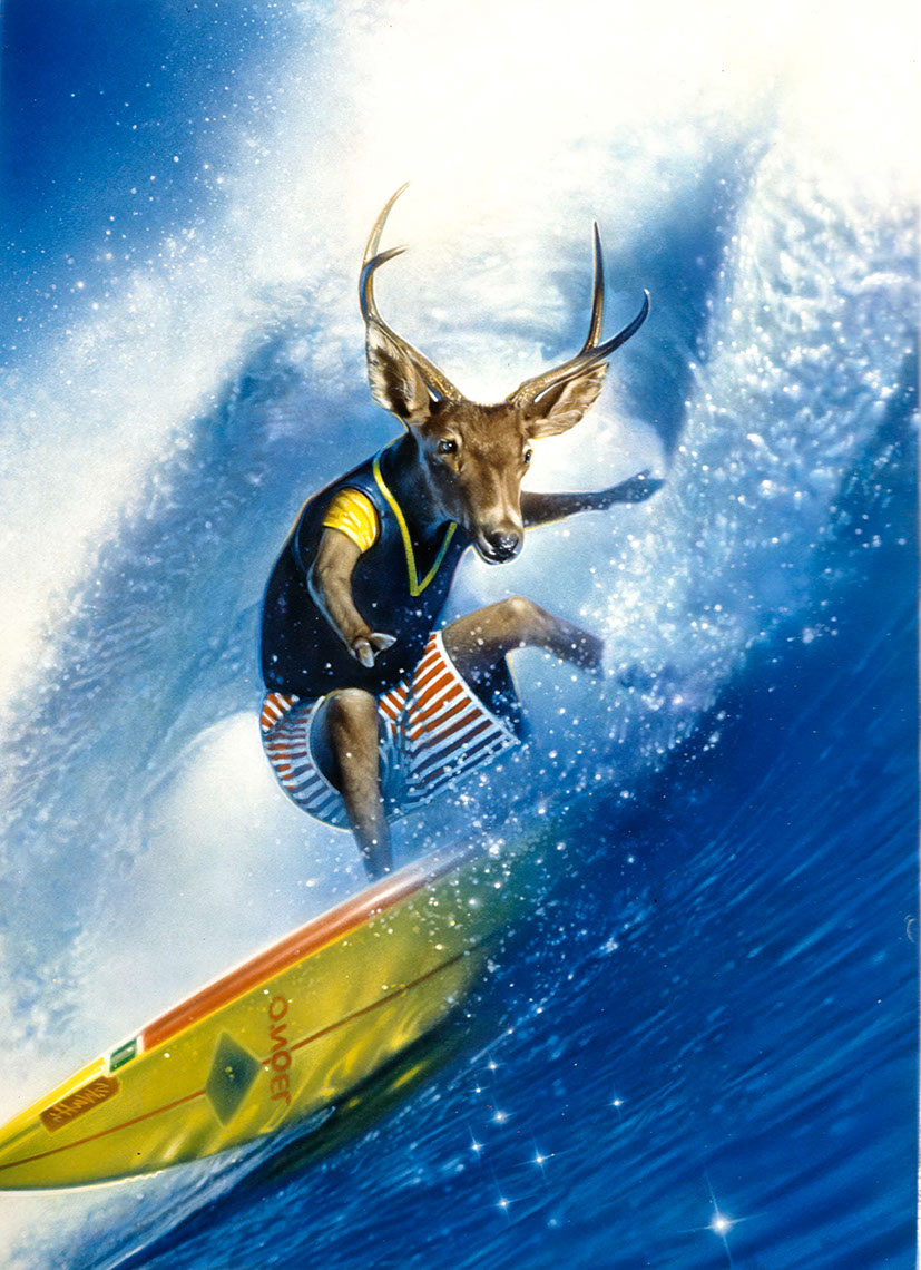 Photo-Imaging_Animals and Nature_Surfing moose-Stan Watts
