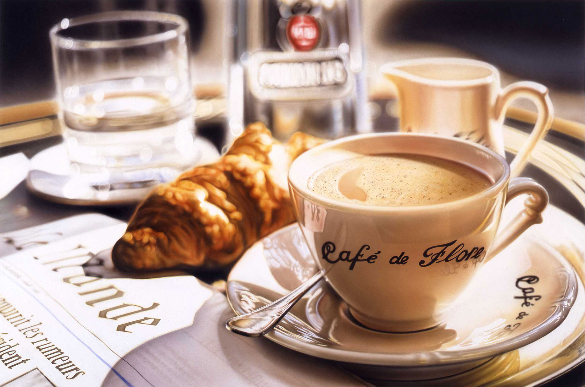 Photo-Imaging_Food_Parisian coffee and croissant-Frank Neidhardt