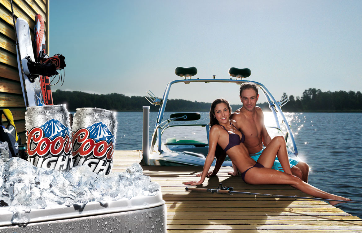 Photo-Imaging_Products and Still Life_Coors light dock-Frank Neidhardt