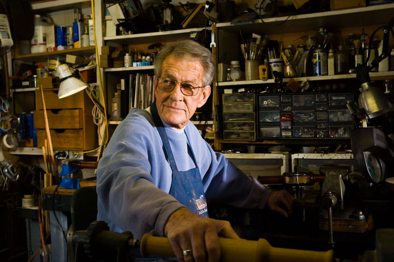 Photography_Business and Travel_Older Man Working in Metal Shop-Tony Garcia
