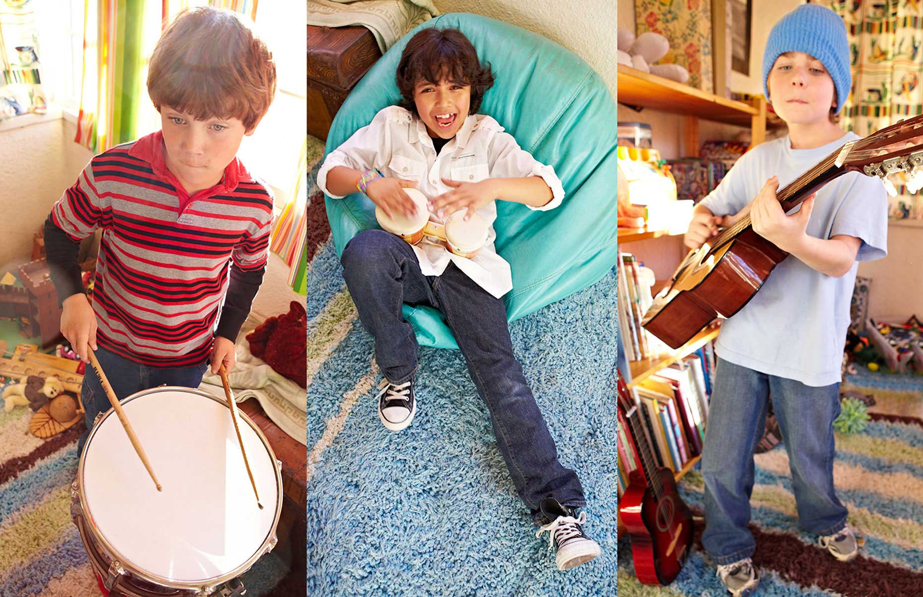Photography_Children and Teens_Child Musicians Drums Guitar-Tony Garcia