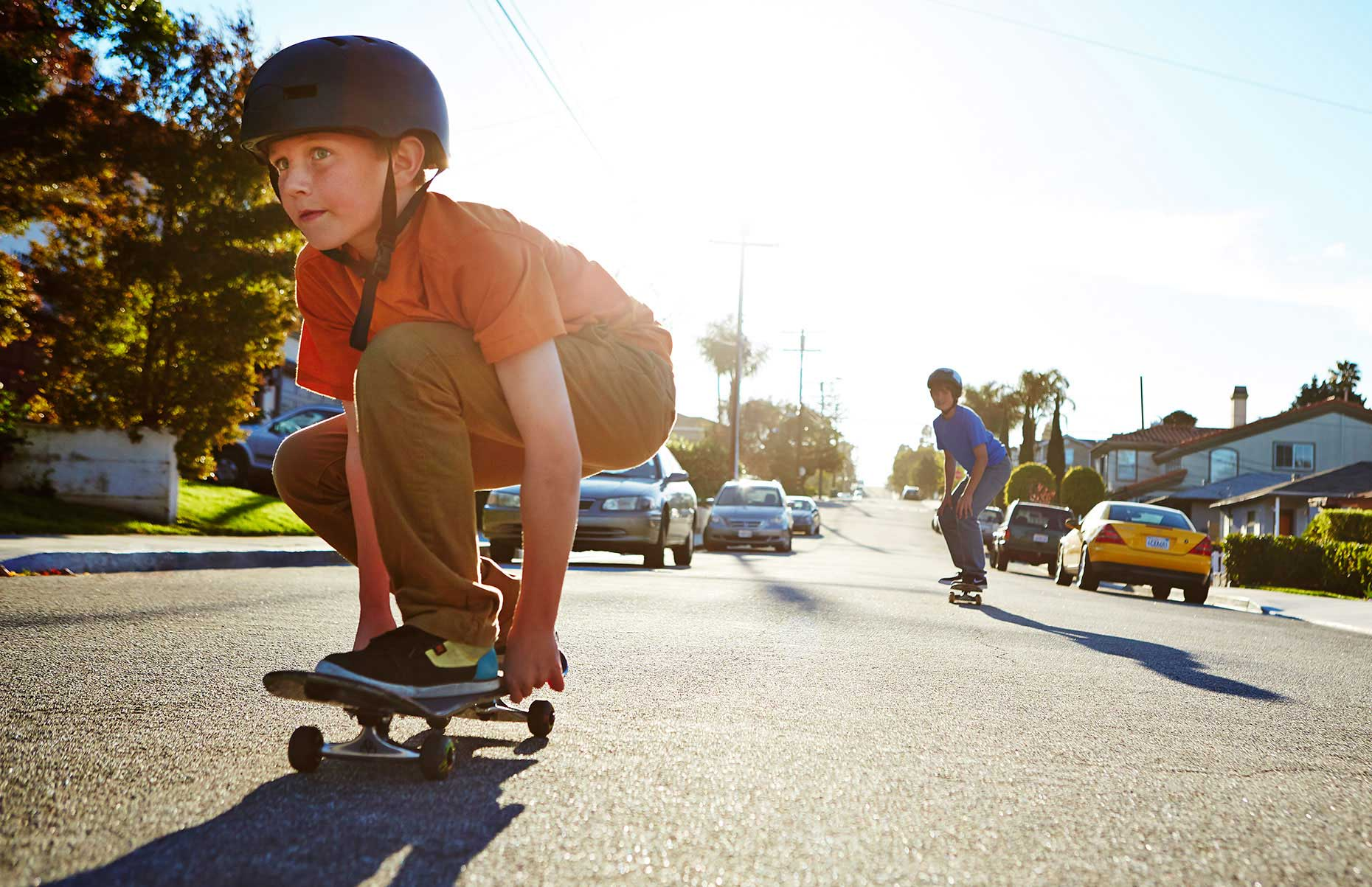 Photography_Children and Teens_Crouching Skateboard Boy-Tony Garcia