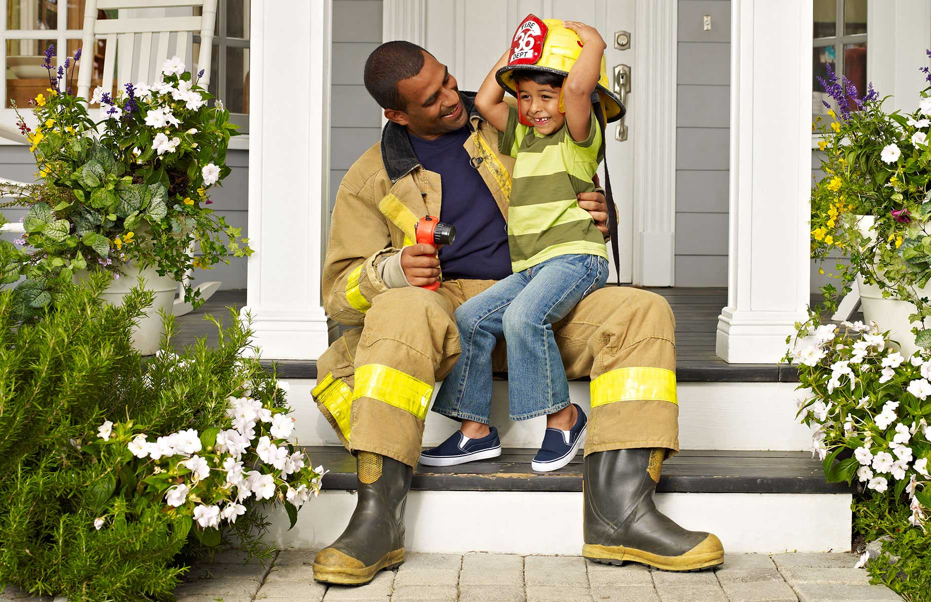 Photography_Family and Home_Fireman and Son-Tony Garcia